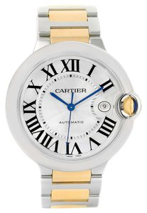 Cartier Cartier Ballon Bleu Steel Yellow Gold Mens Watch W69009Z3 Box Papers