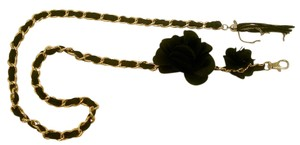Other Belt Chain Women Clothing Accessory Gold & Black Color Dressy Flowers
