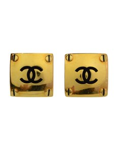 Chanel Chanel XL Square CC Clip On Earrings