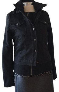 Current/Elliott Black Womens Jean Jacket