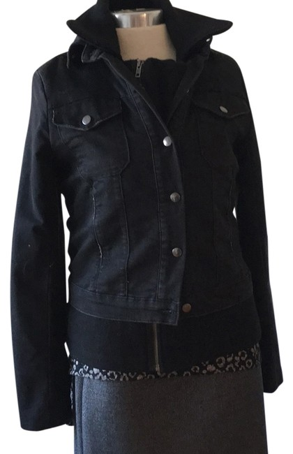 Item - Black And Will Layered Jean Jacket Size 12 (L)