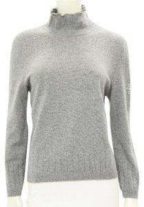 St. John Cashmere Mock Neck Sweater