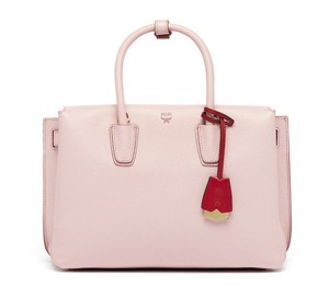 MCM Leather Tote in Pale Mauve
