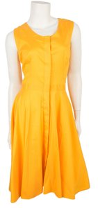 Prada short dress Yellow -Orange on Tradesy