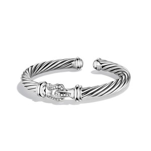David Yurman David Yurman Cable Classic Buckle Cuff Bracelet with Diamonds (Medium)