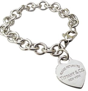 Tiffany & Co. BEAUTIFUL!!!! Tiffany & Co. Return to Tiffany Heart Tag Bracelet Sterling Silver 7