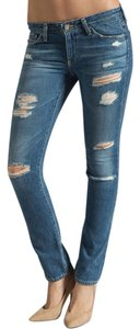 AG Adriano Goldschmied Distressed Skinny Stretchy Skinny Jeans-Distressed