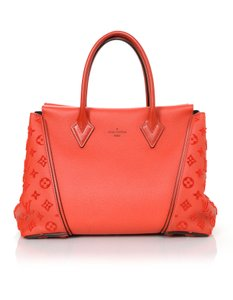 Louis Vuitton Monogram Velour Leather Tote in Red