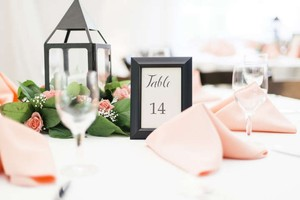 Table Numbers 1-14 Plus 4 Additional Frames Tableware