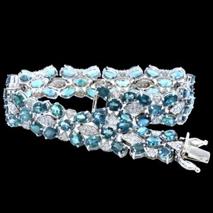 Other 15.93CT NATURAL ALEXANDRITE 14K WHITE GOLD BRACELET