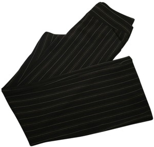 INC International Concepts Flare Pants Dark Brown with Stripes
