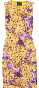 Roberto Cavalli short dress Yellow & Purple Class Floral on Tradesy