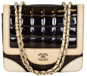 Chanel Lambskin Patent Leather Shoulder Bag