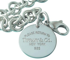 Tiffany & Co. GORGEOUS!!!!! Tiffany & Co. Please Return to Tiffany Round Tag Bracelet 7.5