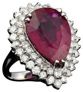Other 15.18ct NATURAL RUBELLITE 14K WHITE GOLD RING