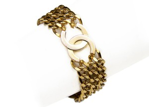 Chanel CHANEL Vintage Cuff Bracelet in Gold Plating