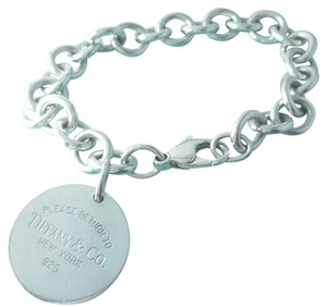 Tiffany & Co. VERY PRETTY!!!!! Tiffany & Co. Please Return to Tiffany Round Tag Bracelet 7.5