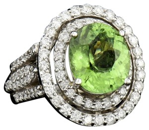 Other 4.51CT NATURAL COPPER BEARING PARIBA TOURMALINE 18K W/G RING