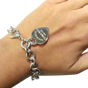 Tiffany & Co. CLASSIC!!! Tiffany & Co. Return to Tiffany Heart Tag Bracelet Sterling Silver 7