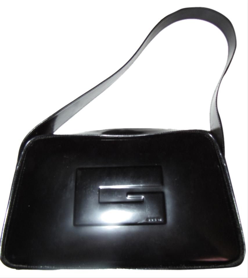 Gucci Top Handle Square G Accent European Mod Chic Excellent Vintage Dressy Or Casual Hobo Bag
