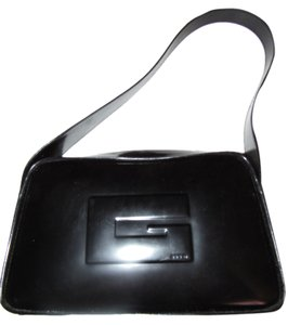Gucci Top Handle Square G Accent European Mod Chic Excellent Vintage Tom Ford Era Hobo Bag