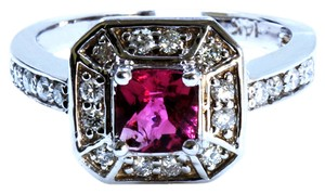 Other 0.66CT NATURAL CEYLON PINK SAPPHIRE 14K WHITE GOLD RING