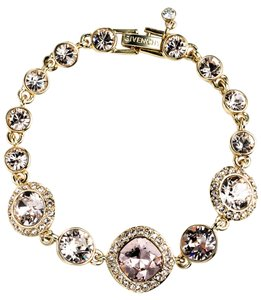 Givenchy Givenchy Gold-Tone Colored Crystal Bracelet