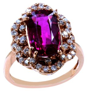 Other 4.25CT NATURAL RUBELLITE 18K ROSE GOLD RING