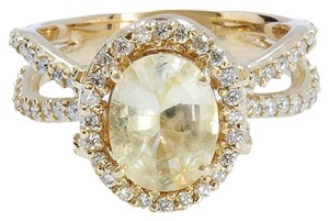 Other 2.31CT Natural YELLOW CEYLON SAPPHIRE 14K YELLOW GOLD RING