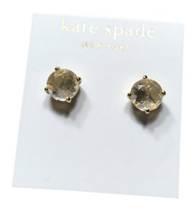 Kate Spade Kate Spade Crystal Gold 14k Gold Fill Studs