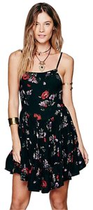 Free People short dress black Intimately Floral Short on Tradesy