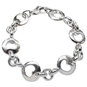 Tiffany & Co. RARE!! VERY UNIQUE AND PRETTY!!! Tiffany & Co. Sterling Silver 1999 Open Heary Bracelet 7