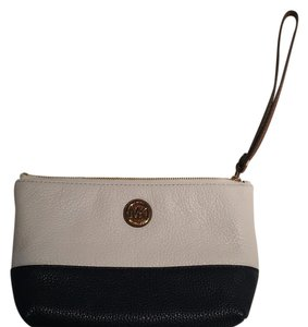 Michael Kors Wristlet in navy and white