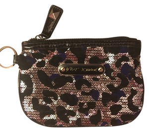 Betsey Johnson Leopard Sequin Wristlet in Leopard Print
