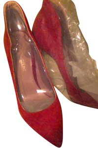 Enzo Angiolini Suede Valentines Day Prom Black Red Pumps