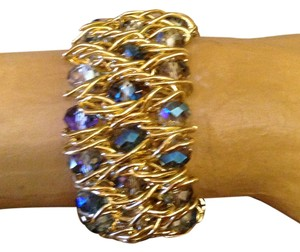 Other wide woven gold and beaded cuff