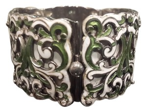 Margo de Taxco Margot de Taxco Beautiful Enamel and Sterling Bracelet