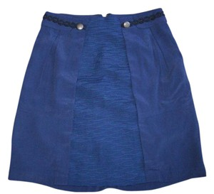 Anthropologie Classic Straight Navy Pencil Slim Skirt Navy Blue