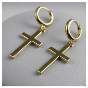 Next Level Dress Vintage Cross Earrings