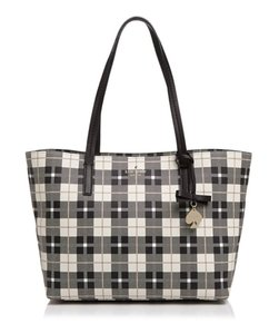 Kate Spade Coated Canvas Tote in Black Multi