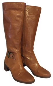 Anne Klein Wide Calf Riding Tall Side Zip BROWN Boots
