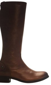 Frye cognac and grey Boots
