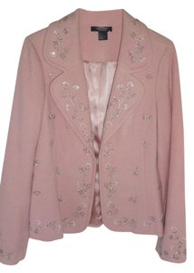 Karen Kane Style Hook Closure Pink. LIGHT PINK Blazer
