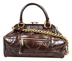 Marc Jacobs Leather Satchel in Brown