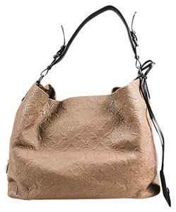 Louis Vuitton Fumee Taupe Black Calf Leather Antheia Gm Hobo Bag