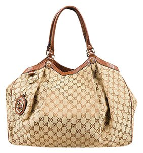 Gucci Brown Gg Monogram Shoulder Bag