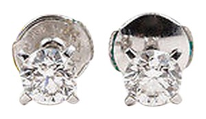 Chopard Chopard 18k White Gold 1.02 Ctw Diamond Round Stone Stud Earrings