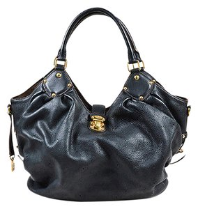 Louis Vuitton Leather Perforated Monogram Mahina L Hobo Bag
