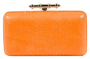 Givenchy Genuine Python Obsedia Minaudire Orange Clutch