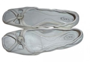 Tod's white patent leather Flats